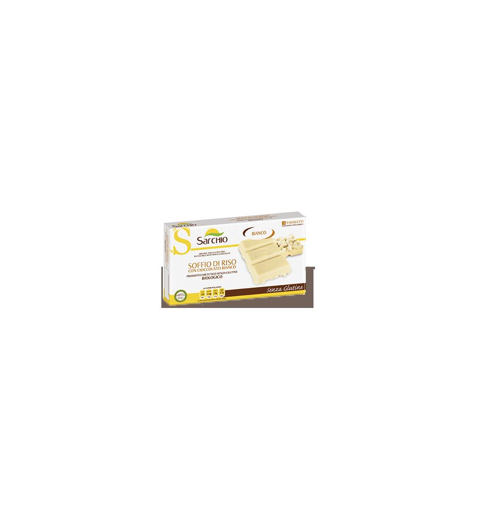 Barrita de arroz inflado con chocolate blanco Bio Sarchio (75 g)  de Sarchio