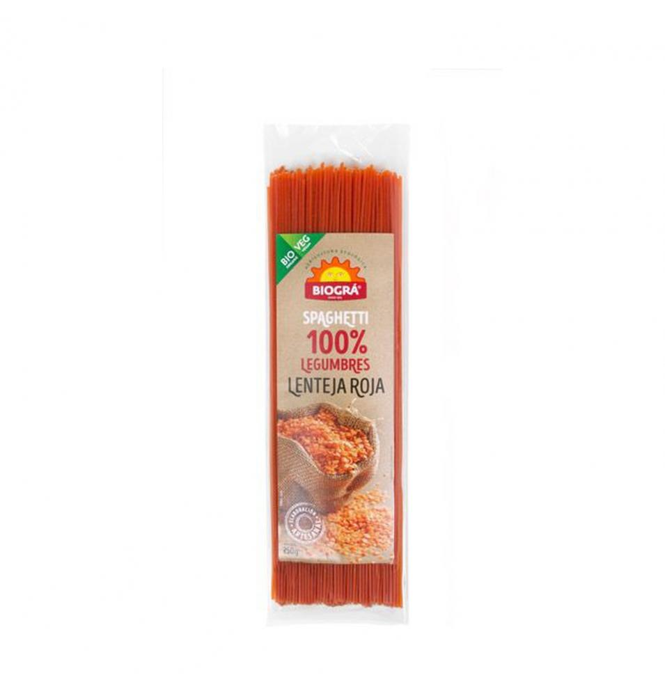 Espagueti de lenteja roja Bio, Biogra (250g)  de Biográ
