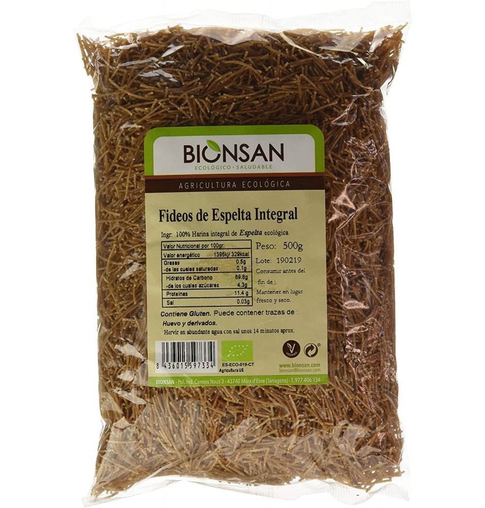 Fideos Finos de Espelta Bio, Bionsan (500g)  de BIONSAN, S.C.C.L.