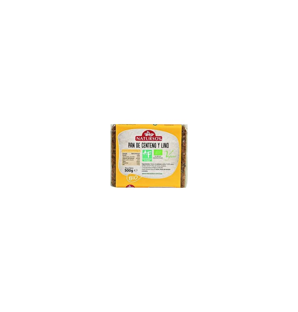 Pan de centeno y lino Bio Natursoy (500g)  de