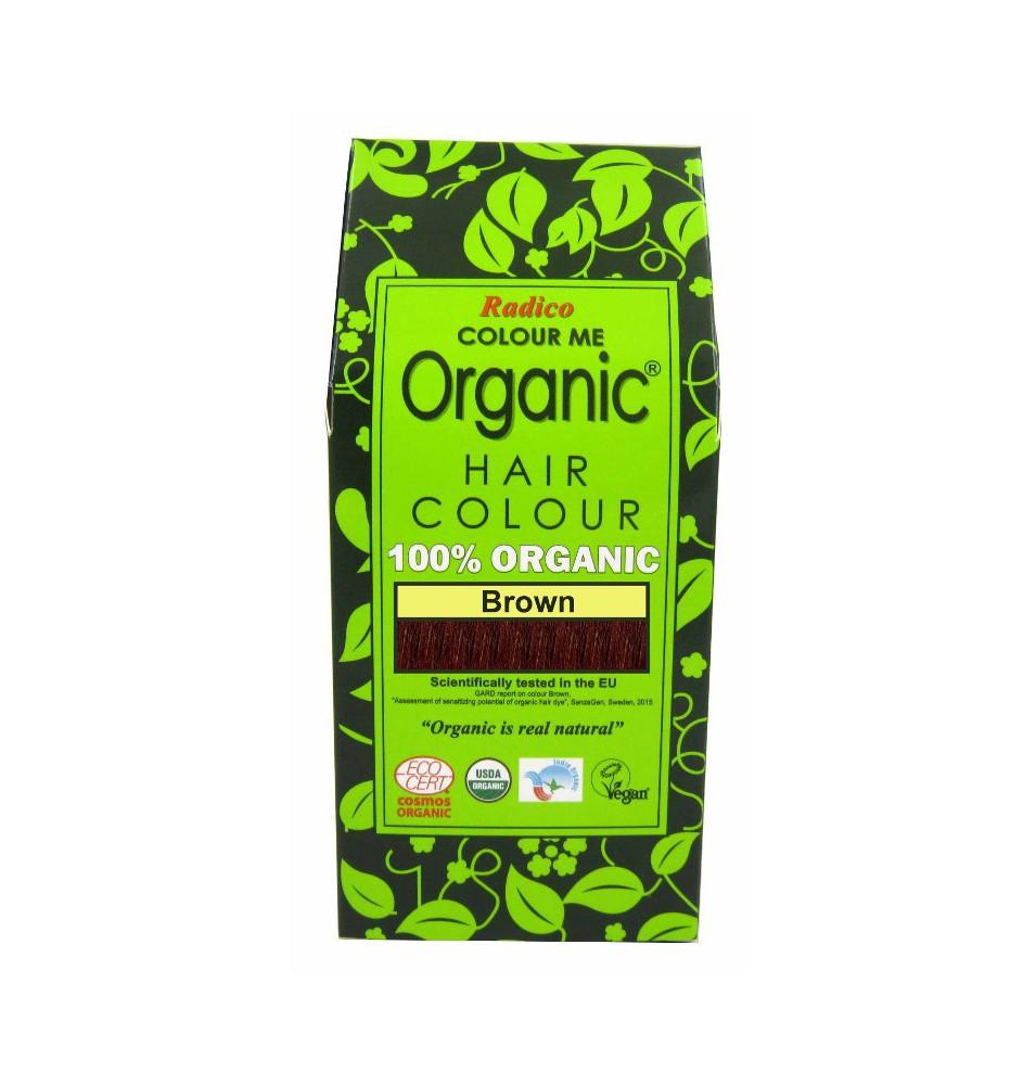 Tinte cabello vegetal castaño de Radico (100g)  de Radico
