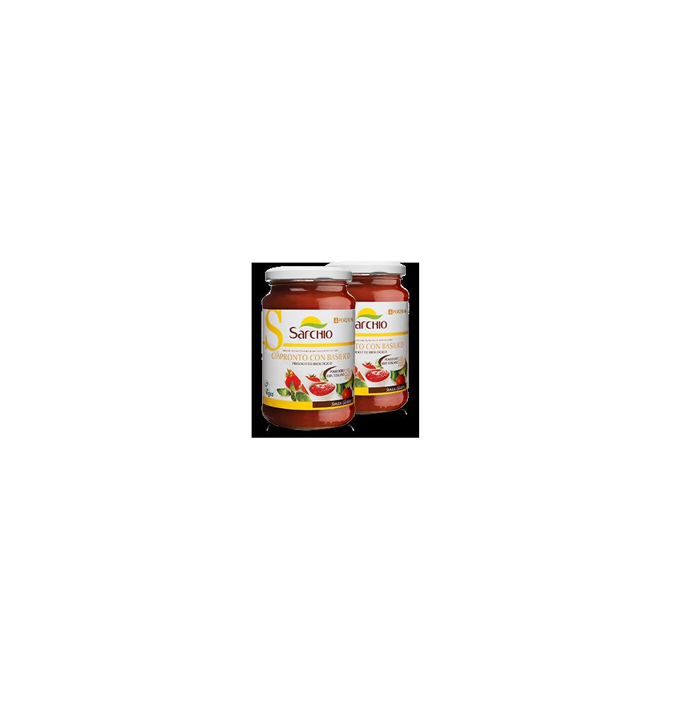 Salsa de tomate con albahaca, sin gluten Bio Sarchio (340g)  de Sarchio