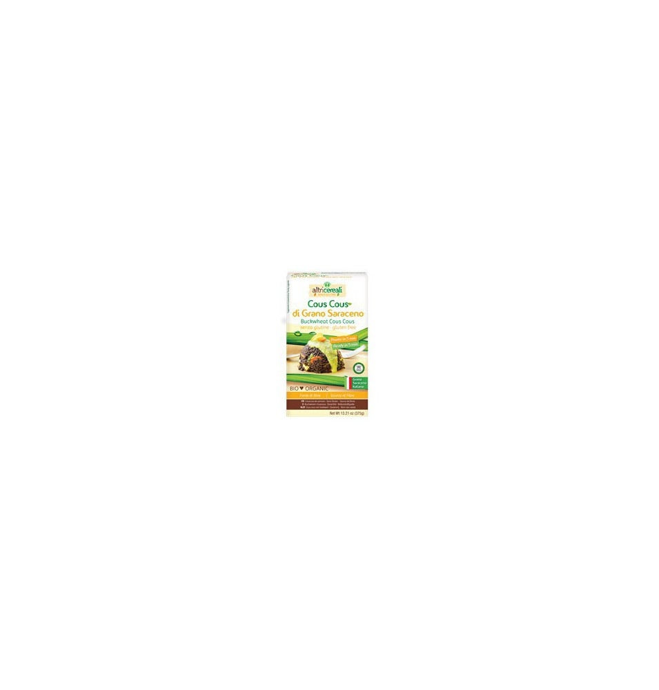 Cous cous trigo sarraceno Sin Gluten Bio, Altricereali (375g)  de Altri Cereali