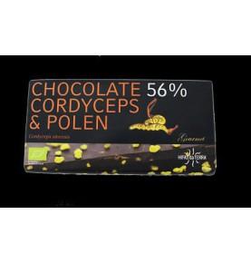 Chocolate 56% con cordycpes y polen Bio Hifas da Terra  de Hifas da Terra