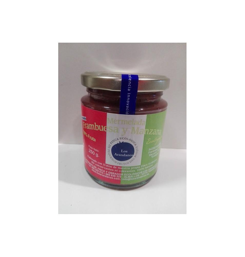 Mermelada de frambuesa y manzana sin azúcar (235g) (100% fruta)  de