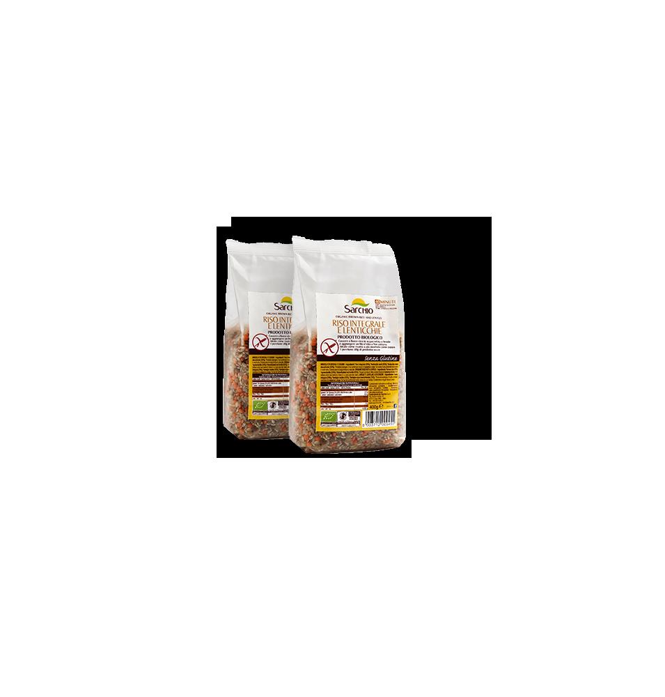 Arroz integral y lentejas, sin gluten Bio Sarchio (400g)  de Sarchio