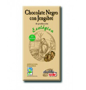 Chocolate Negro jengibre Eco, Sole (100g)  de Chocolates Solé
