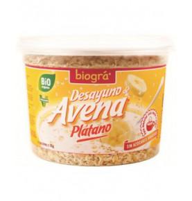 Porridge de avena plátano sin azúcar Bio, Biográ (220g)  de Biográ