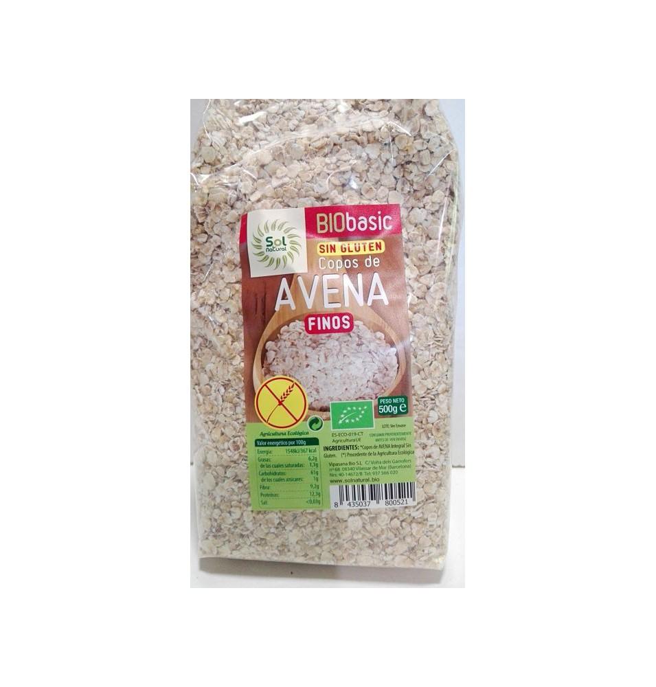Copos de avena s/gluten finos Bio Sol Natural (500g)  de