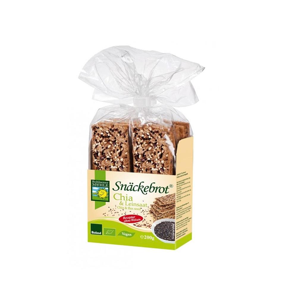 Pan crujiente con semillas de chia y lino Bio Bohlsener Mühler (200g)  de Bohlsener Mühle