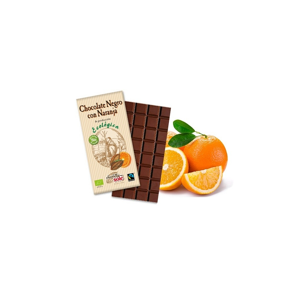Chocolate negro con naranja Bio, Solé (100g)  de Chocolates Solé