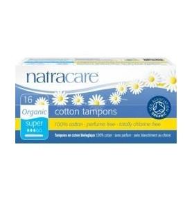 Tampón Super con aplicador Bio, Natracare (16 Uni)  de NATRACARE