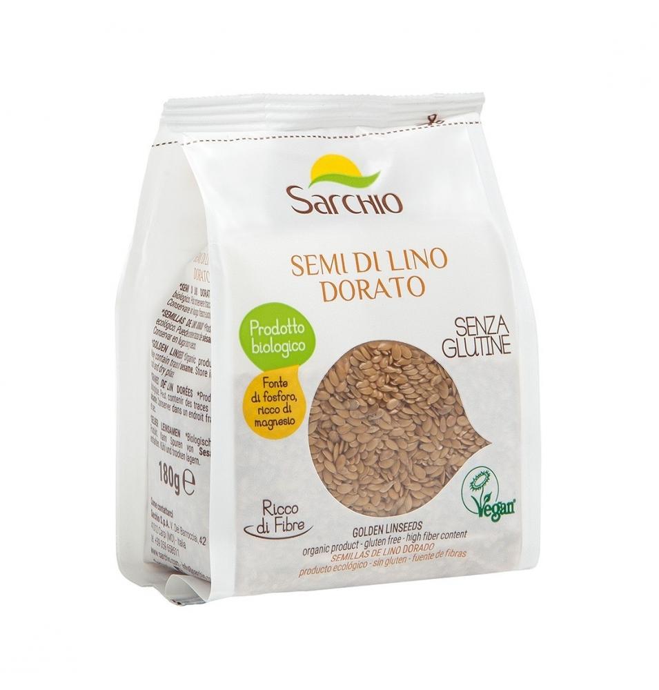 Semilla Lino Dorado Bio, Sg Vg Sarchio (180g)  de Sarchio