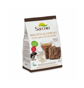Galleta Cereales Cacao Choco Bio, Sarchio (200g)  de Sarchio