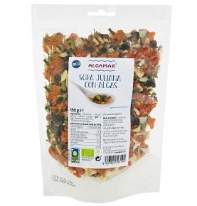 Sopa Juliana con algas Bio, Algamar (150g)  de Algamar