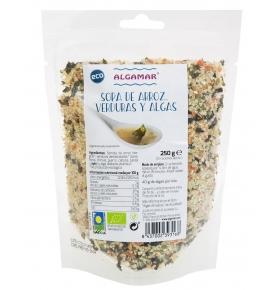 Sopa de arroz, verduras y algas Bio, Algamar (250g)  de Algamar