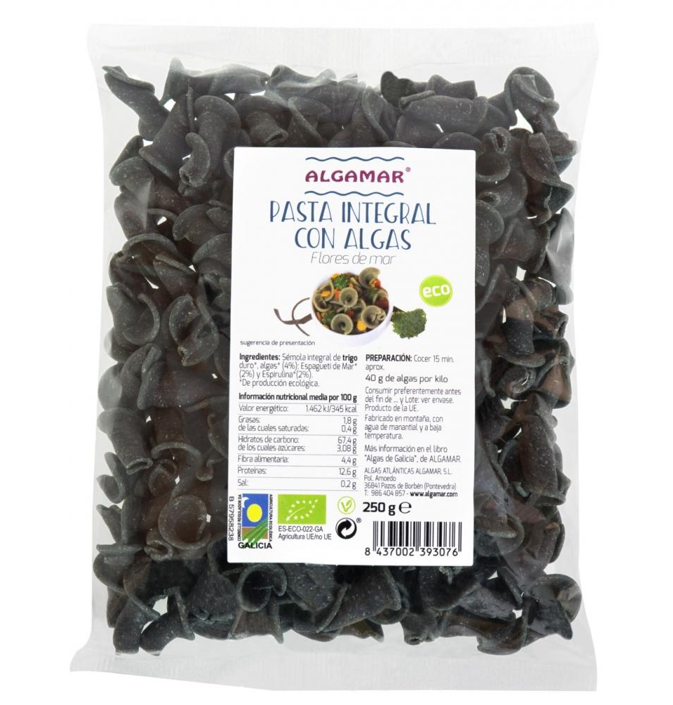 Pasta integral con algas Flores de Mar Bio, Algamar (250g)  de Algamar
