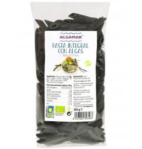 Pasta integral con algas macarrones bio, Algamar (250g)  de Algamar