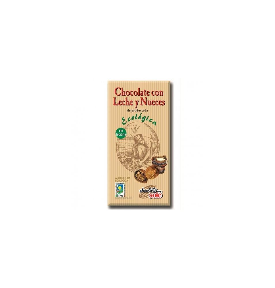 Chocolate con leche y nueces Bio Solé (100g)  de Chocolates Solé