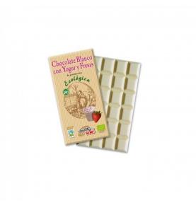 Chocolate Blanco con Yogur y fresas Eco Sole (100g)  de Chocolates Solé