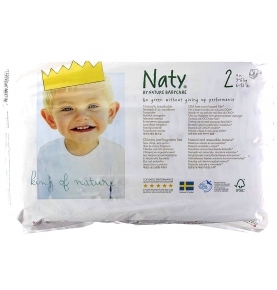 Pañales ECO Naty by Nature Babycare - nº2 (3-6 Kg) 34u  de Naty