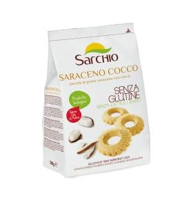 Galletas de trigo sarraceno y coco sin gluten Bio, Sarchio (200g)  de Sarchio